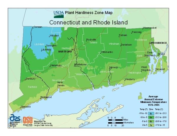USDA CT Map